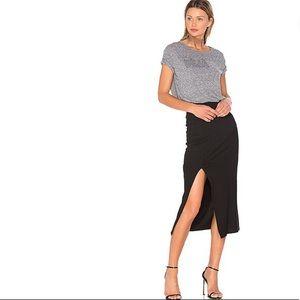 Mink Pink directional rib skirt black